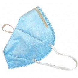 Ear Loop Light blue Disposable Face mask Pack of 5