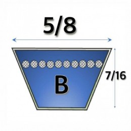 "17X11X59/"",aka B 59 B59 B Section Quality Vee Belt 1540 mm Internal Length"