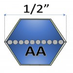 "1/2"" - AA Hexagonal Belts"