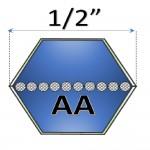 Correas Hexagonales Tipo AA