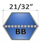 "21/32""  - BB Hexagonal Belts"
