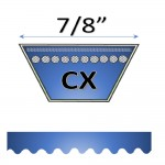 "7/8"" CX Cogged V Belts."