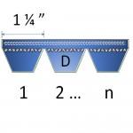 """1 1/4""""  D banded belts"""