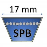 17 mm - SPB Metric Belts
