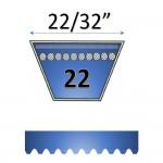 "22/32""  22 automotive belt"