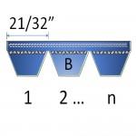 """21/32"""" - B Banded Belts"""
