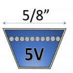 """5/8"""" 5V wedge belts"""