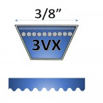"3/8"" - 3VX Raw Edge Cogged V Belts"