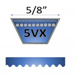 "5/8"" - 5VX Raw Edge Cogged V Belts"