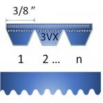 """3/8"""" 3VX Cogged banded belt"""