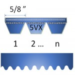"5/8"" - 5VX Cogged Banded Belt"