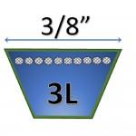 """3/8"""" - 3L Fractional Kevlar Belts"""