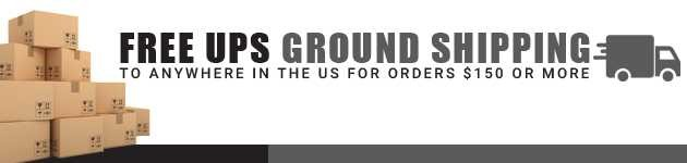 Free UPS ground shipping on orders $150 or more